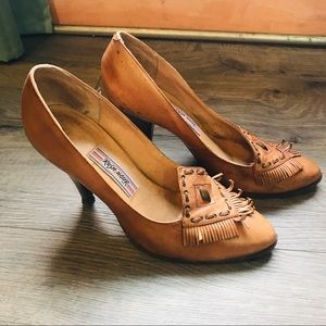 Western style leather heels - size 8.5